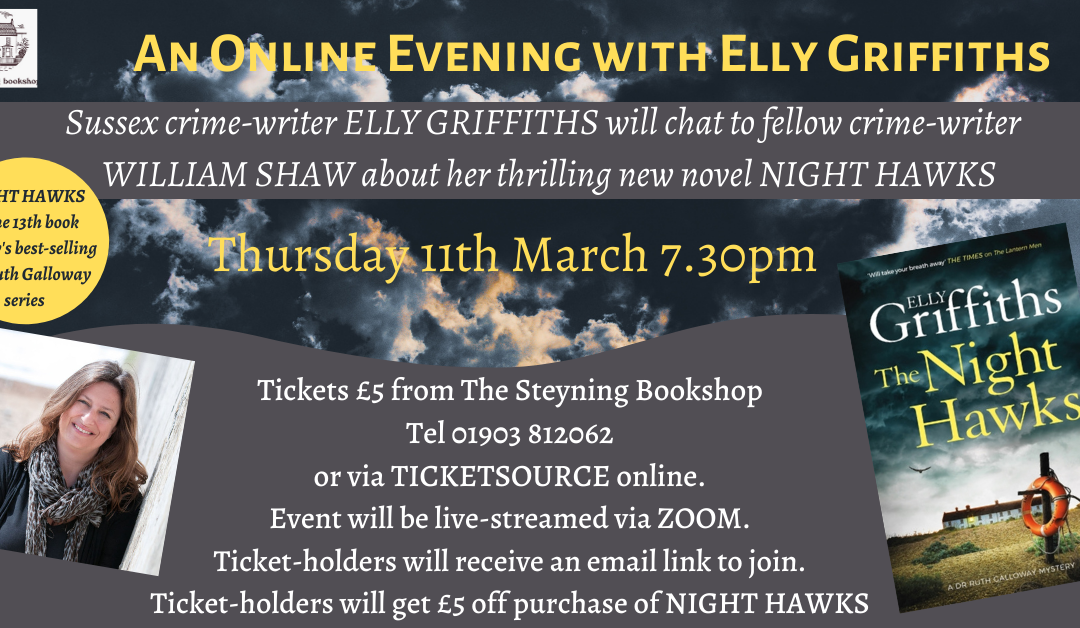An Online Evening with Elly Griffiths