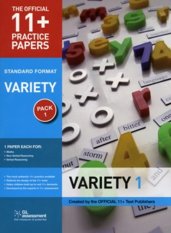 11+ Practice Papers, Variety Pack 1, Standard : Maths Test 1, Verbal Reasoning Test 1, Non-verbal Reasoning Test 1