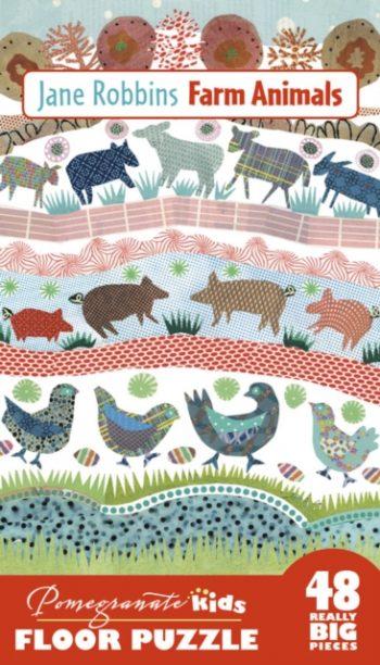 JANE ROBBINS FARM ANIMALS FLOOR PUZZLE