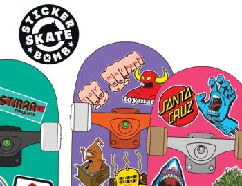 Stickerbomb Skate : 150 Classic Skateboard Stickers