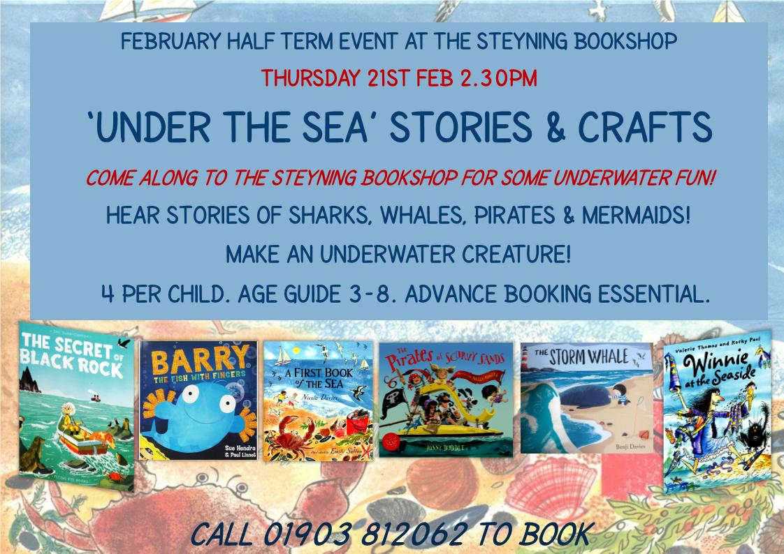 FEB Half Term Under the Sea Crafts & Stories