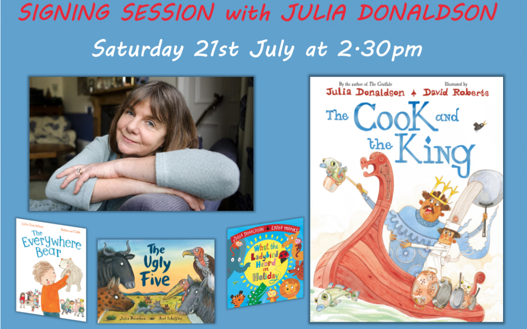 Julia Donaldson Book Signing for 'The Cook and the King'