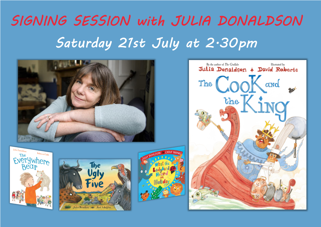 The Cook and the King Julia Donaldson Signing