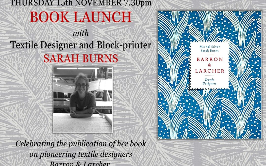 'Barron & Larcher' Book Launch with Sarah Burns