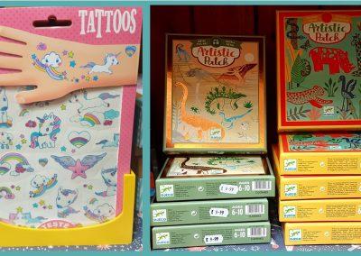 Djeco tattoos and craft kits