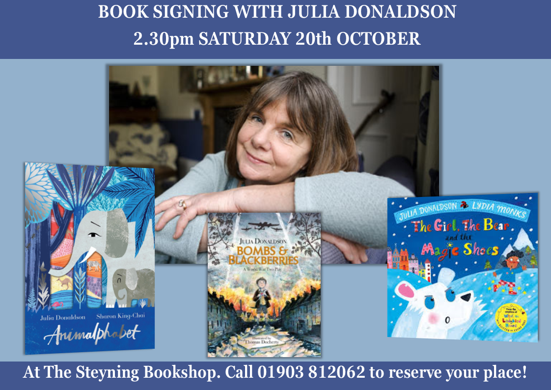 Julia Donaldson Book Signing October 20th 2018