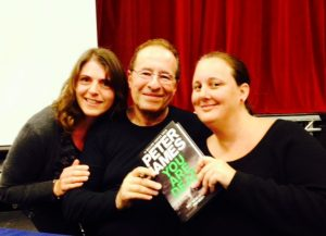 Peter James with fans