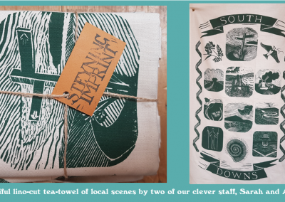 South Downs Tea Towels by Sarah and Alice