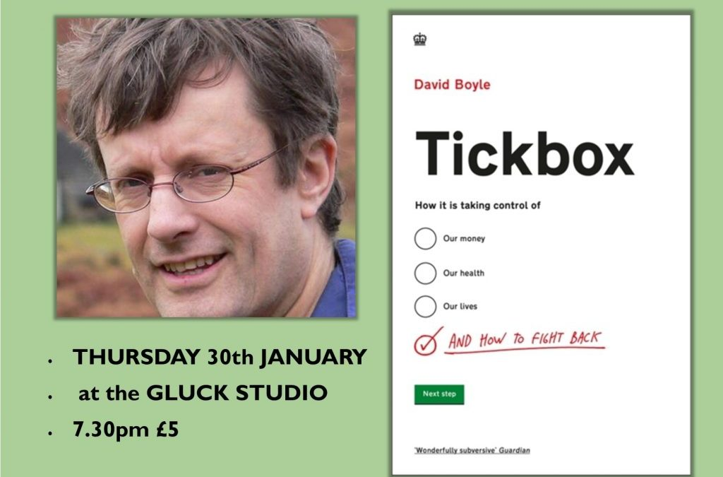 'TickBox' with David Boyle